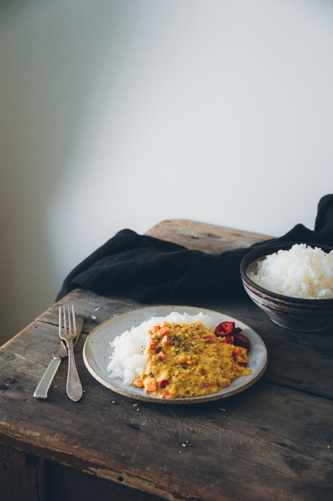 Vegan lentil curry with rice | The Nordic Kitchen